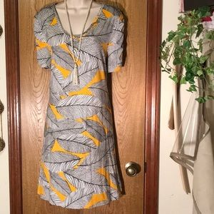 🔥WOW! Loft Tribe Feather Casual Dress 👗🎁